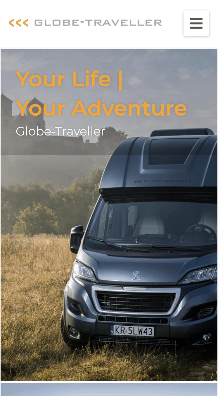 Strona internetowa Globe-Traveller